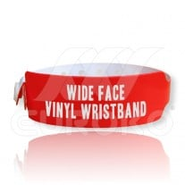 Wide Face VINYL Wristbands (30mm)